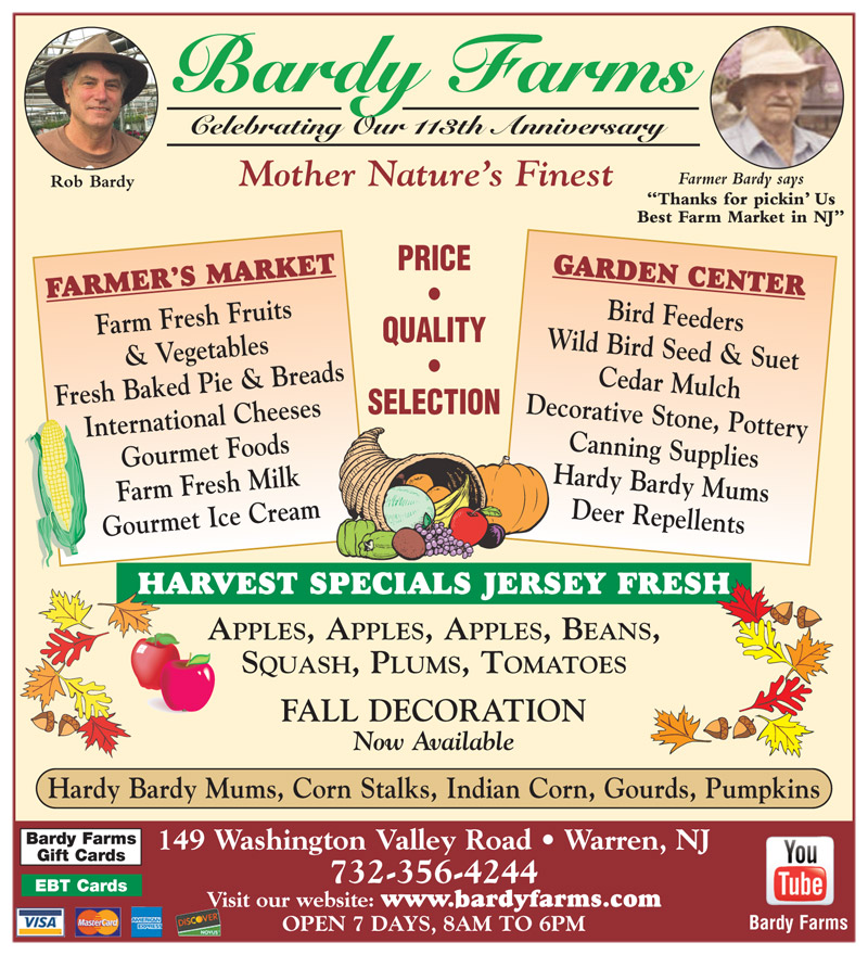 Bardy Farms Specials Fall 2017