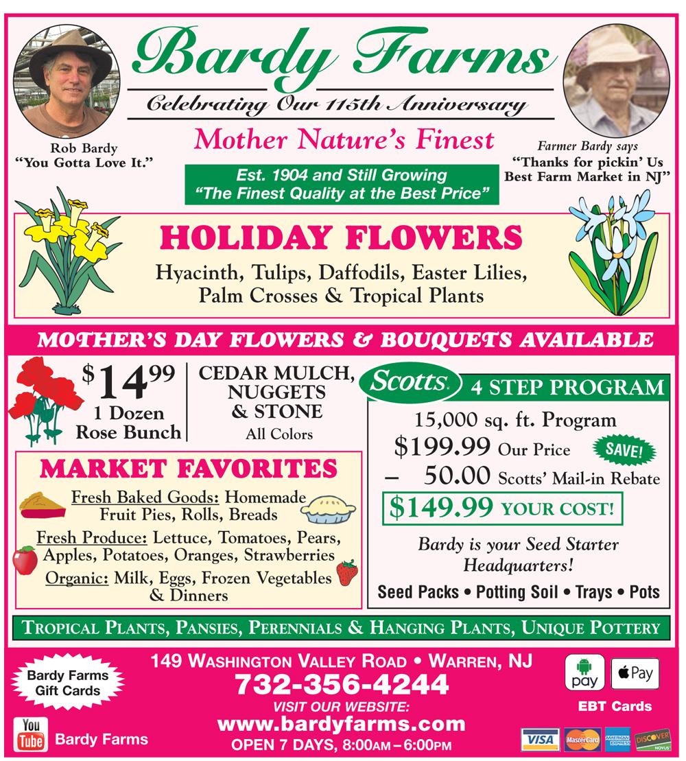 Bardy Farms April 2019 Specials